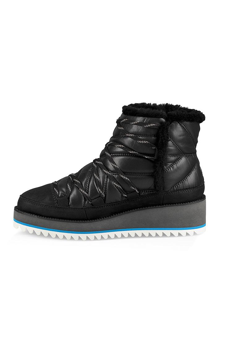 80b6247f0e4b UGG - Čierne dámske kotníkové čižmy s vysokou podrážkou