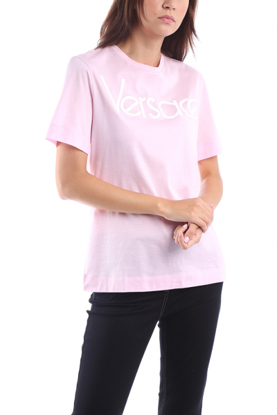 f076c5aafaa1 VERSACE - Ružové tričko s krátkym rukávom
