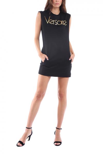 VERSACE - Čierne šaty bez rukávov  403b3e98583
