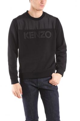 KENZO - Ružová mikina s vyšívaným tigrom vpredu a farebným nápisom ... d4f978eadc0
