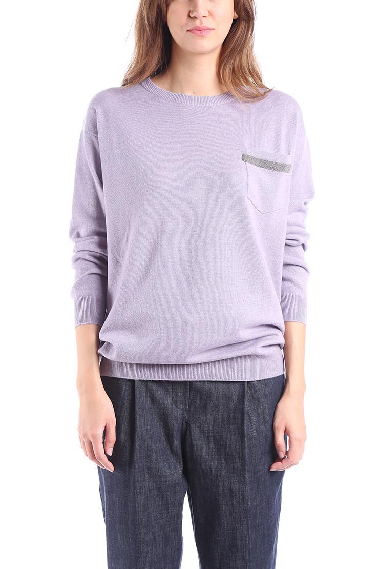 3e600785f368 BRUNELLO CUCINELLI - Fialový kašmírový sveter