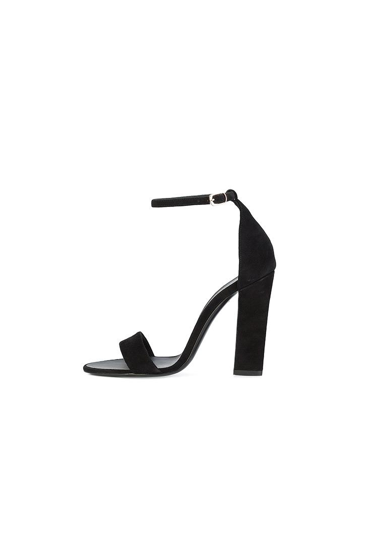 4c0ab0e40c685 VICTORIA BECKHAM - Čierne kožené sandále | Alize.sk